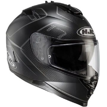 HJC IS-17 Lank Black Full Face Motorcycle Helmet - Free Pinlock